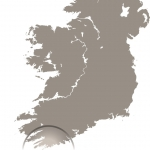 West Cork is the most south-westerly region of the Republic of Ireland. Click the map to view a larger version.