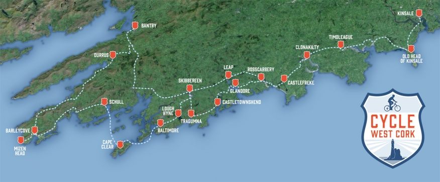 cycle west cork map
